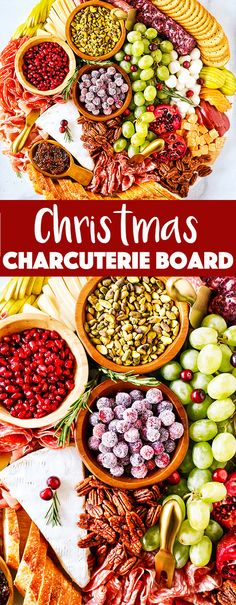 christmas food This Christmas Charcuterie Board is going to be the talk of your next holiday party! Its packed with delicious holiday favorites and is a perfect centerpiece for any Christmas party! Christmas Party Food, Christmas Appetizers, Christmas Cooking, Appetizers For Party, Appetizer Recipes, Christmas Holiday, Holiday Parties, Christmas Sweets, Xmas