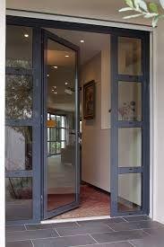 New Modern Glass Front Door Entrance House Ideas Front Door Entrance, Door Entryway, Exterior Front Doors, House Front Door, Glass Front Door, House Doors, House Entrance, Glass Entry Doors, Home Front Door Design