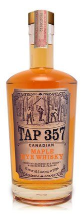 Tap 357 Canadian Maple Rye Whiskey. So good it's not even funny. In a flask on the hill. Perfect!
