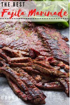 Beef Fajita Marinade, Beef Fajita Recipe, Beef Fajitas, Mexican Steak Marinade, Kabob Marinade, Steak Marinades, Mexican Dishes, Mexican Food Recipes, Ribs