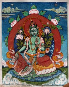 Green Tara│綠度母 The goddess of universal compassion, Tara represents virtuous and enlightened action. It is said that her compassion for living beings is stronger than a mother's love for her children. She also brings about longevity, protects earthly travel, and guards her followers on their spiritual journey to enlightenment.