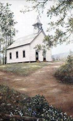 White Church; a place in History of Cades Cove, Smoky Mountains