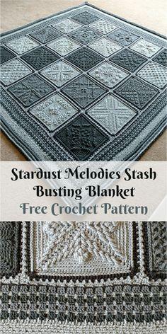 Stardust Melodies Stash Busting Blanket [Free Crochet Pattern] Klik på visit Block list