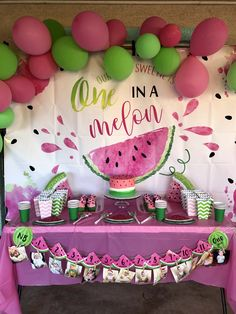 Watermelon Birthday Parties, 1st Birthday Party For Girls, Fruit Birthday, First Birthday Themes, First Birthdays, Birthday Ideas, Rosalie, One In A Melon, Ava