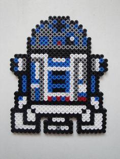 R2-D2 Star Wars /  Perler Beads - Hama perlen - Bügelperlen