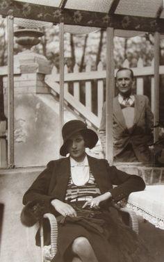 Jacques Henri LARTIGUE, Self-Portrait with Renee Perle, 1930-31