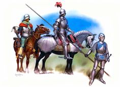 • Mounted crossbowman, second half 15th C  • German knight, c. 1485  • Flemish mercenary, second half 15th C