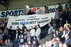 Newcastle fans are disillusioned with the club's current owners, but Ashley has vowed to stay until he wins silverware