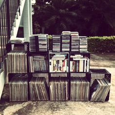 collections of music....but not kept outdoors.