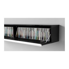 BEST BURS Wall shelf - high gloss gray - IKEA we need a custom one that we  can also hide the dvd player in, so maybe a framed screen in front