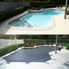Did your #pool cover survive the winter season? #LOOPLOC is your answer to a long-lasting cover that can withstand any kind of weather!