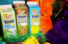 The Illinois company is bringing three Peeps-flavored milks (Marshmallow Milk, Chocolate Marshmallow Milk, and Easter Egg Nog) to the Mid. Easter Peeps, Easter Candy, Peeps Flavors, Marshmallow Eggs, Gram Of Sugar, Flavored Milk, Chocolate Marshmallows, Easter Recipes, Easter Baskets