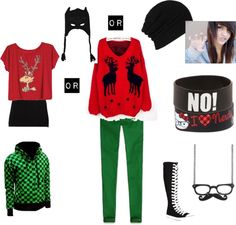 """My scene christmas outfit!"" by mysterioussilverfox ❤ liked on Polyvore"