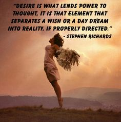www.cosmicordering.net - Dreams into reality quote by mind power author Stephen Richards.