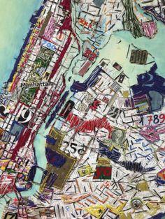 Textile Fiber Art, Textile Artists, Map Collage, Imaginary Maps, Map Quilt, Map Projects, Aerial Arts, A Level Art, City Art