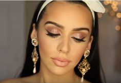 Tutorial: Romantic Rose Gold Makeup For Valentine's Day | Simple And Soft Eyeshadow And Lipstick Makeup Tutorial Perfcet For Your Special Day by Makeup Tutorials at  http://makeuptutorials.com/rose-gold-for-valentines-day/