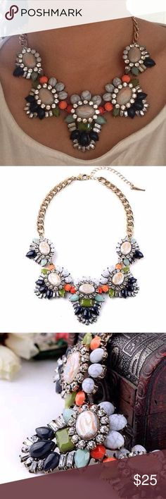 ❣BACK IN❣ Multicolor statement Necklace Beautiful piece. Brand new. All jewelry is buy two get one free! Jewelry Necklaces