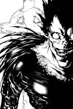 Ryuk Shinigami from Death note - awesome ink Shinigami, Manga Anime, Comic Manga, Anime Naruto, Tokyo Ghoul, Dead Note, Death Note デスノート, Death God, Tsugumi Ohba