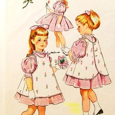 Vintage 1950s Girls Dress Pinafore Apron McCalls 2275 by Revvie1, $6.00