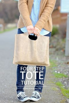 Four Step Leather Tote TUTORIAL   Free Pattern