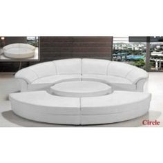 Modern Leather Circular Sectional Sofa- Circle - 2095.0000  too funky for MX house??? maybe in a fun fabric???  I like that when the pieces are together you can really lay back and strectch out. If lots of people around, just separate the pieces and you have seating