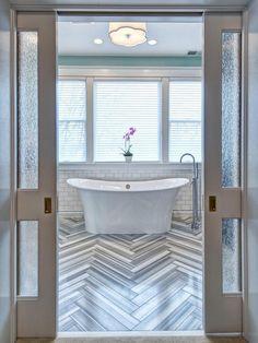 Pocket Door Master Bathroom