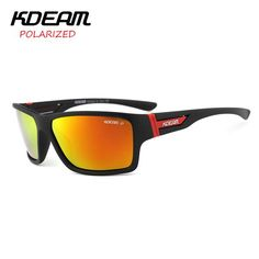 FuzWeb:KDEAM Summer Polarized Sunglasses men HD Polaroid lens Exercise Goggles With Hard Box lentes de sol KD510