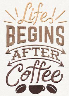 Coffee Break - Life Begins After Coffee design (UT12857) from UrbanThreads.com