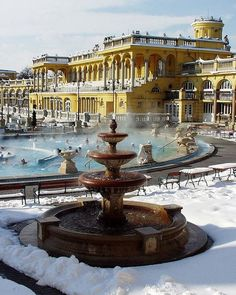 cold outside hot inside - thermal spa, Budapest