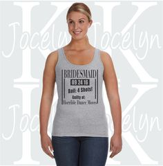 Bridesmaid jail theme horrible dance move funny by JocelynKDesigns
