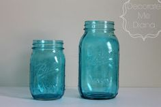 Decorate Me Diana: DIY Blue Tinted Mason Jars