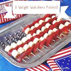 0 Points ! Weight Watchers , Memorial Day , Patriotic , 4th of July , Dessert , WW