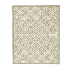 CURRENT COLOR. Deville Indoor/Outdoor Rug 9' round, 8 x 10'  Ballard Designs $630