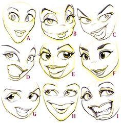 Female Cartoon Faces by Joni Godoy.jpg