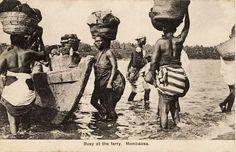 Natives at Ferry Mombasa Karen Blixen, Mombasa, East Africa, Republic Of The Congo, Vintage Photography, Tanzania, Uganda, Nostalgia, Coast