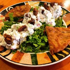 New Fit Meal at the Lambs Farm Magnolia Cafe - Chicken Waldorf Salad with Whole Wheat Pita! http://www.lambsfarm.org/new-healthy-menu-at-magnolia-cafe/