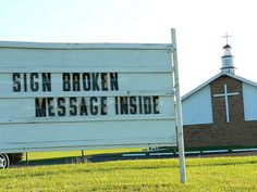 Buy a church sign / http://thesenews.com/church-sign/