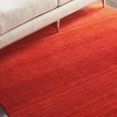 Linear Glow Sumac Wool Rug by Calvin Klein Calvin Klein Rugs, Shades Of Red, Outdoor Furniture, Outdoor Decor, Wool Rug, Glow, Surface, Bright, Interiors