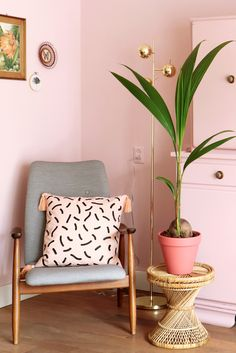 We're loving the shades of blush in this home.