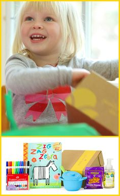 so cute! your little one could receive a gift box in the mail each month - they will LVOE this! Also makes a cute gift.