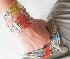 Boho Tribal Bracelet, Summer Fiber Bracelet, Gypsy jewelry, Bohemian Hand Woven Fiber Jewelry, Eco-friendly Gift For Her, Handmade gifts