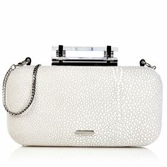 """Vince Camuto """"Onyx"""" Leather Minaudiére Clutch"""