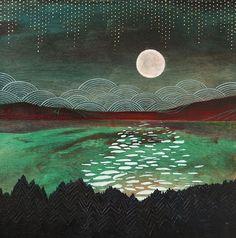 "indigodreams: "" acidoergossum: Pink Moon by Cathy McMurray """