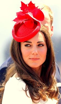 Love the maple leaf on Kate's hat during their visit to Canada