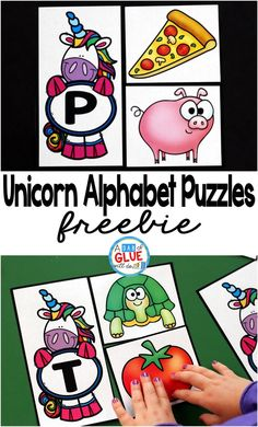Do you have any unicorn lovers in your classroom or house? These unicorn Alphabet Puzzles will be the perfectway for your preschool and kindergarten students to practice learning the alphabet. This free printable is great for introducing or reviewing the letters. via @dabofgluewilldo