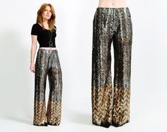vintage 70s sequin chevron pants from TinRoofVintage,+$225.00