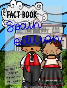 Learn all about the country of Spain while participating in a shared research project with your kids!! Work together as a whole class, or let your kids work in small groups during literacy stations. Kids can write down facts about Spain as they research the country together