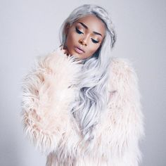 Finally I'm going to do a YouTube tutorial on how to get these grey locks search 'Nyane Lebajoa' on YouTube to follow me  ( @bombayhair extensions )