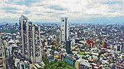 "New artwork for sale! - "" Tokyo City View by PixBreak Art "" - http://ift.tt/2irVpcn"