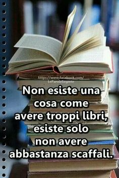 There's no such thing as having too many books, there's just not have enough shelves. Reading Quotes, Book Quotes, Words Quotes, I Love Books, Books To Read, My Books, Verona, Forever Book, Italian Quotes